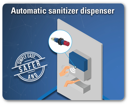 Automatic Hand Sanitizers with Telemecanique Sensors!