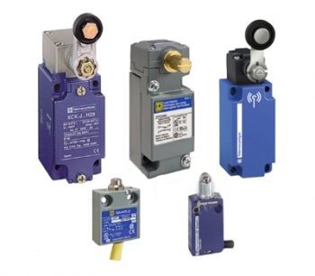 Telemecanique Sensors IEC and Square D NEMA limit switches in standard, heavy duty, compact, miniature, and wireless models.