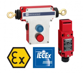 Preventa XY2 & XCS hazardous dust location compliant safety sensors