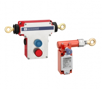 Preventa XY2CED and XY2CJ Emergency Stop Safety Cable Pull Switches